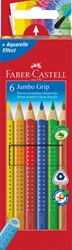 Kleurpotloden Faber Castell Jumbo Grip set à 6 stuks assorti
