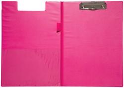 Klembordmap MAUL A4 staand met penlus neon roze