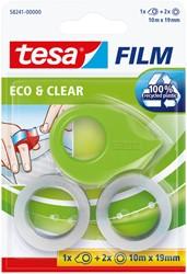 Plakband Tesa 58241 eco&clear 19mmx10m mini dispenser