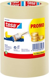 Afplaktape Tesa 55342 basic promo 50mmx50m 3rollen