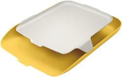 Brievenbak Leitz Cosy met desk organiser geel