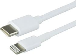 Kabel Green Mouse USB Lightning-C 1 meter wit