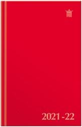 Agenda 2021-2022 Ryam studie uni kleur rood