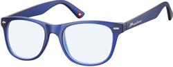Bril Montana blue light filter +0.00 dpt blauw