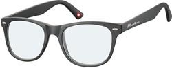 Leesbril Montana blue light filter +1.50 dpt zwart