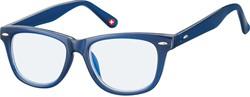 Bril Montana blue light filter kids +0.00 dpt blauw