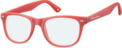 Leesbril Montana blue light filter +2.00 dpt rood