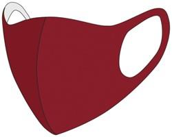 Mondkapje wasbaar rood