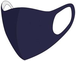 Mondkapje wasbaar donker blauw