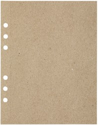 Tekenpapier MyArtBook A5 110gr 6-gaats 20vel recycled kraft grijs
