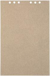 Tekenpapier MyArtBook A4 110gr 6-gaats 20vel recycled kraft grijs