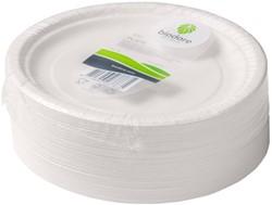 Bord Biodore karton 180mm wit 100 stuks