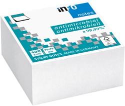 Memoblok Info Notes 75x75mm wit, 400 vel