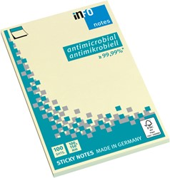 Memoblok Info Notes 100x150mm geel