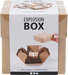 Explosion box Creotime 12x12x12cm naturel