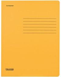 Dossiermap Falken A4 320gr geel