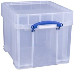 Opbergbox Really Useful 35 liter 480x390x345 mm transparant wit
