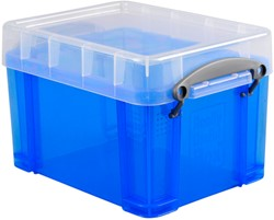 Opbergbox Really Useful 3 liter 245x180x160 mm transparant blauw