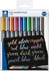 Brushpen Staedtler metallic etui à 10 kleuren