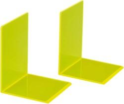 Boekensteun MAUL 10x10x13cm acryl neon geel