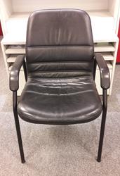 Bezoekersstoel Interstuhl Zwart Leder