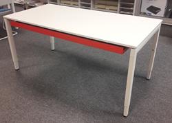 Tafel 80x160cm Drentea Squadra Wit/Wit Hoogte instelbaar
