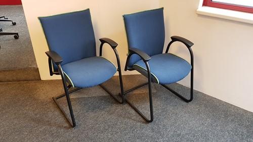 Bezoekersstoelen Interstuhl Ataros set van 2 stuks (opnieuw gestoffeerd)-2