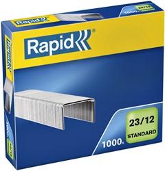 Nieten Rapid 23/12 gegalvaniseerd standaard 1000 stuks