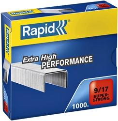 Nieten Rapid 9/17 staal super strong 1000 stuks
