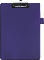 Klembord Quantore A4 blauw met 100mm klem + penlus