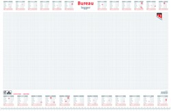 Bureau-onderlegblok 2021 Quantore ruit 56,5X36CM  wit