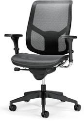 Bureaustoel Pro-Air zwart zitting en rug in netbespanning