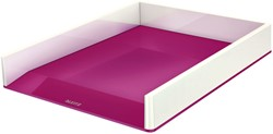 Brievenbak Leitz WOW wit/roze