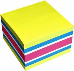 Memoblok Info Notes kubus 75x75mm neon assorti 450vel