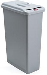 Afvalcontainer Slim Jim vertrouwelijk grijs 87liter