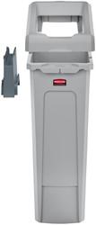 Afvalcontainer Slim Jim Recyclestation starterset grijs