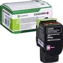 Tonercartridge Lexmark C242XM0 rood