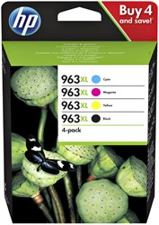Inktcartridge HP 3YP35AE 963XL zwart + 3 kleuren HC