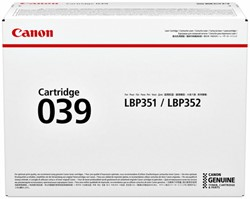 Tonercartridge Canon 039 zwart