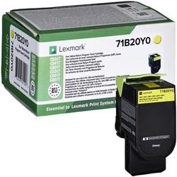Tonercartridge Lexmark 71B20Y0 geel
