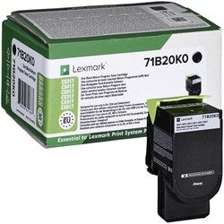 Tonercartridge Lexmark 71B20K0 zwart