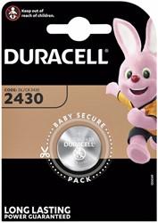 Batterij Duracell knoopcel 1xCR2430 lithium Ø24mm 3V-280mAh