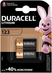 Batterij Duracell 2xCR123 high power lithium