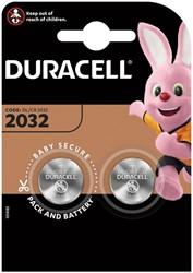 Batterij Duracell knoopcel 2xCR2032 lithium Ø20mm 3V-180mAh