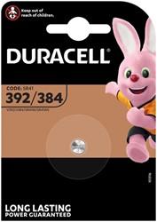 Batterij Duracell knoopcel 1x392/384 alkaline Ø7,9mm 1,5V-45mAh