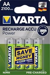 Batterij oplaadbaar Varta 4xAA 2100mAh ready2use