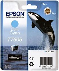 Inkcartridge Epson T7605 lichtblauw
