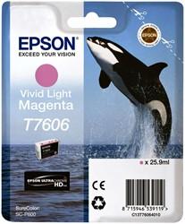 Inkcartridge Epson T7606 levendig lichtrood