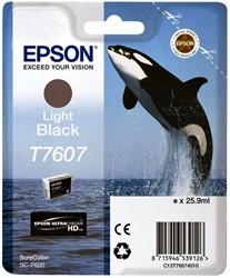Inktcartridge Epson T7607 licht zwart
