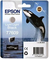 Inktcartridge Epson T7609 licht lichtzwart